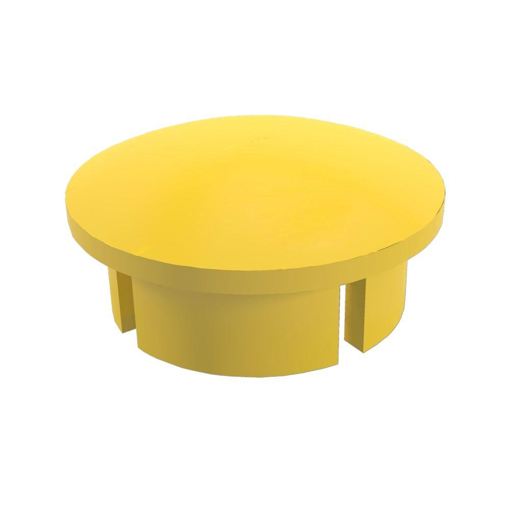Formufit 3/4 in. Furniture Grade PVC Internal Dome Cap in Yellow