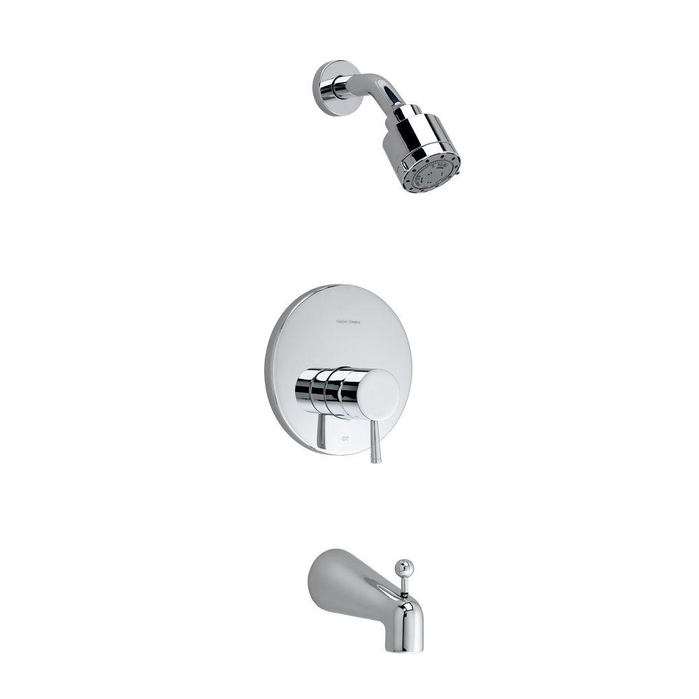 American Standard Serin 1 Handle 3 Spray Tub And Shower Faucet In