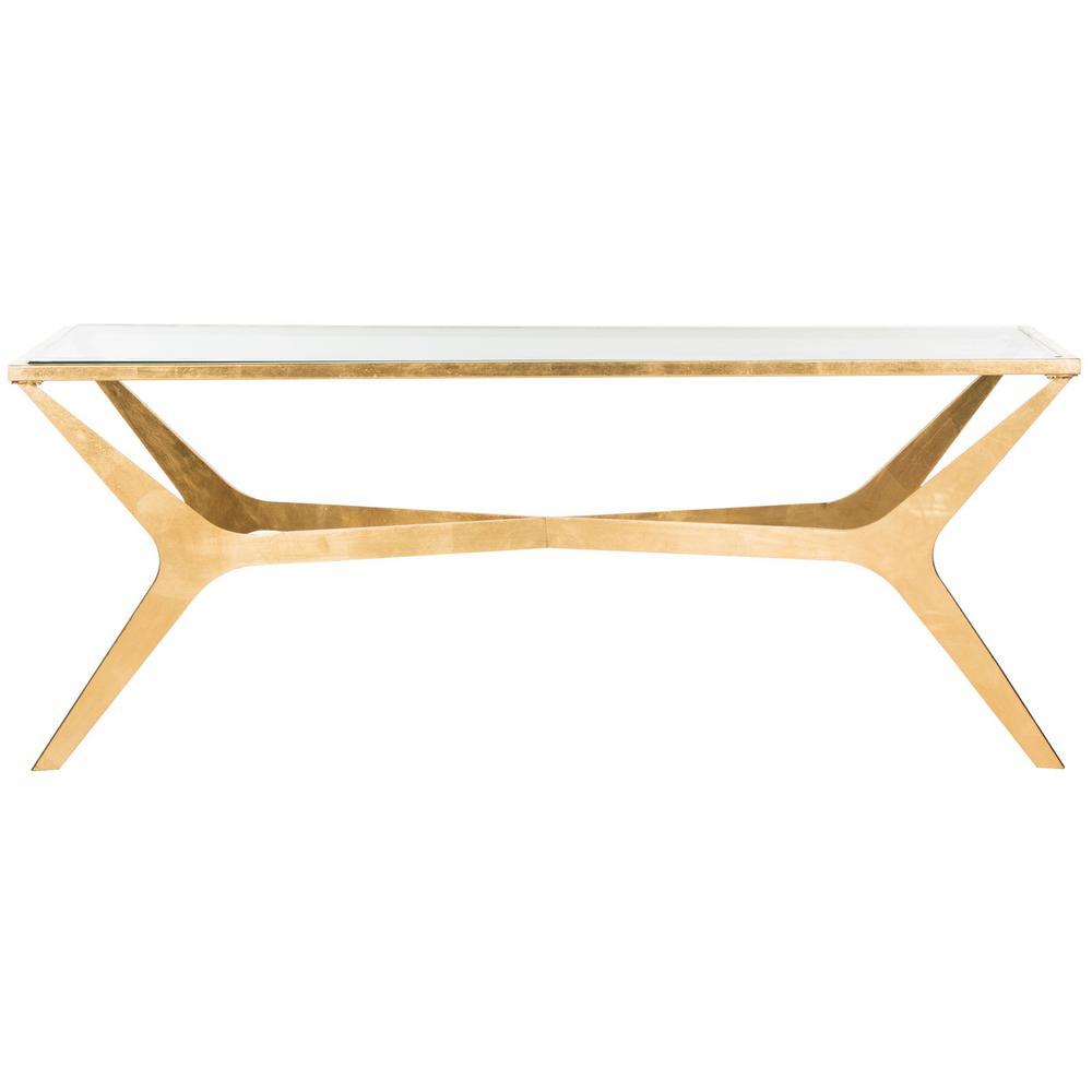 Edythe Gold/Clear Coffee Table
