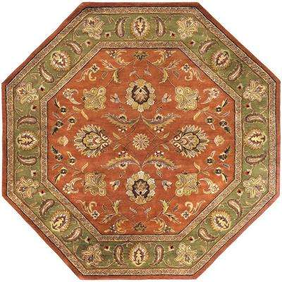 Grafton Dark Rust Wool 8 ft. Octagon Area Rug