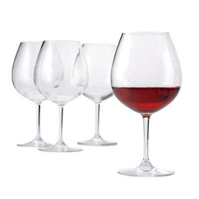 Indoor/Outdoor 8.75 in. H Pinot Noir Wine Glass (Set of 4)
