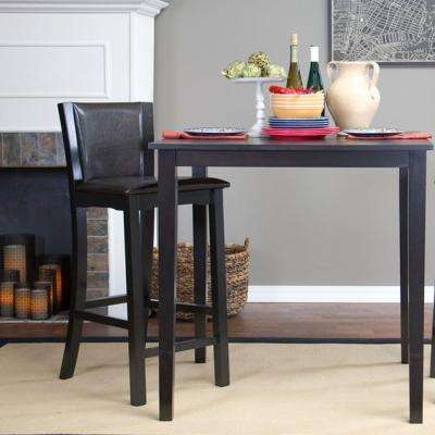 Baxton Studio Rinko Brown Faux Leather Upholstered 2-Piece Bar Stool Set