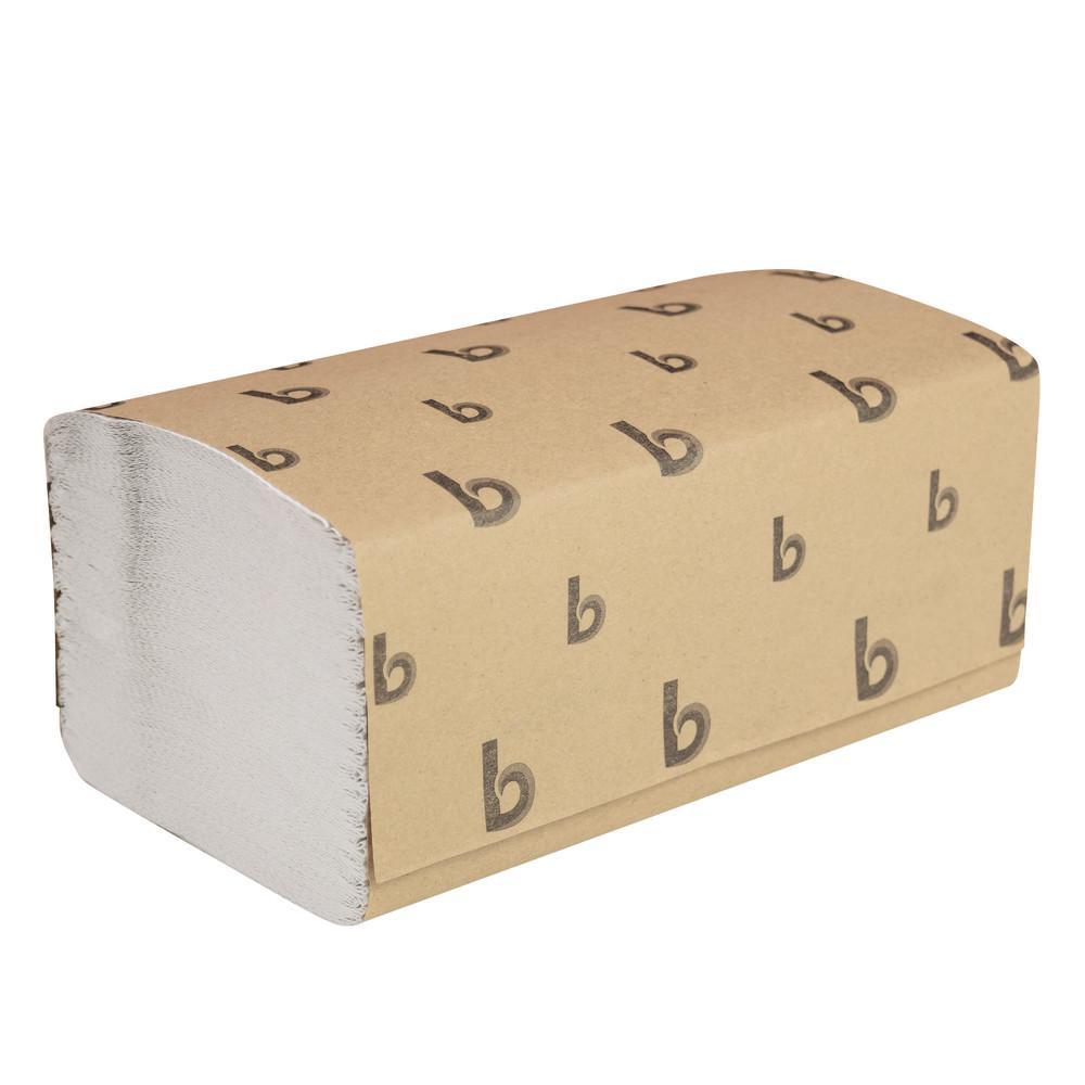 Singlefold Paper Towels, White, 9 x 9 9/20, 250/Pack, 16 Packs/Carton