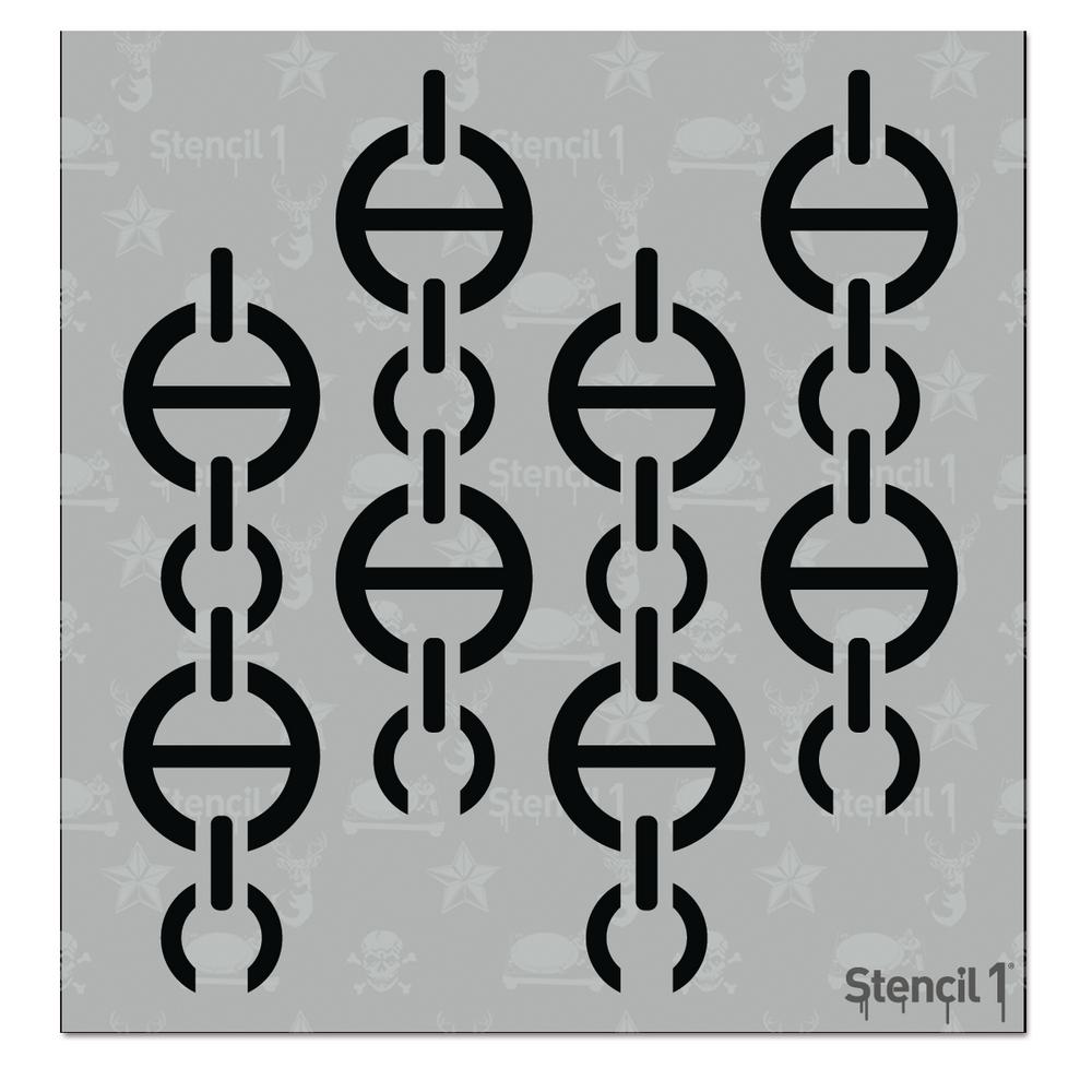 Chains Couture Small Repeat Pattern Stencil