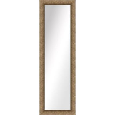 Large Rectangle Dark Champagne Art Deco Mirror (51.5 in. H x 15.5 in. W)