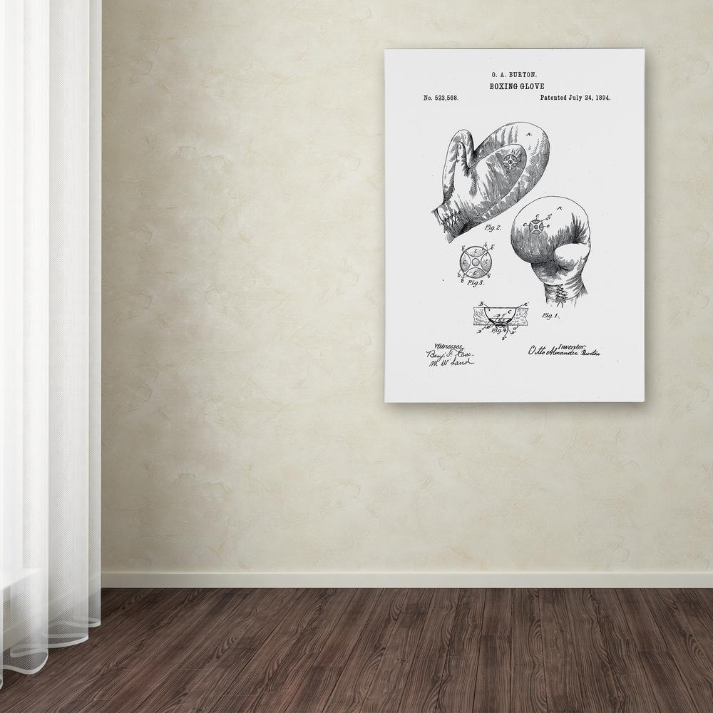 """Trademark 47 in. x 35 in. """"Boxing Gloves Patent 1894"""" by ..."""