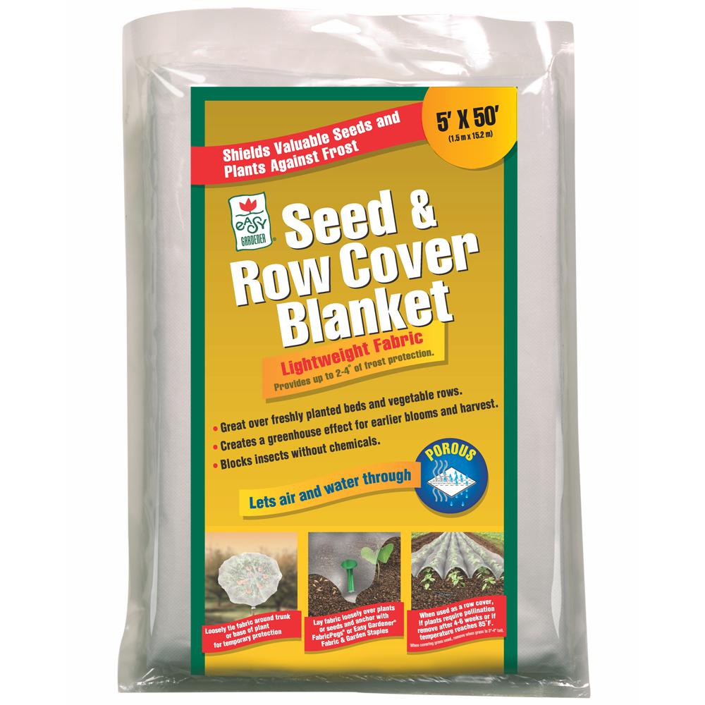 Jobe's 5 ft. x 50 ft. Seed and Row Cover Blanket for Frost Protection Seed Germination in White