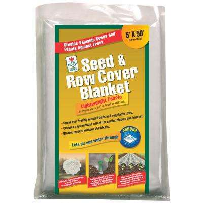 5 ft. x 50 ft. Seed and Row Cover Blanket for Frost Protection Seed Germination in White