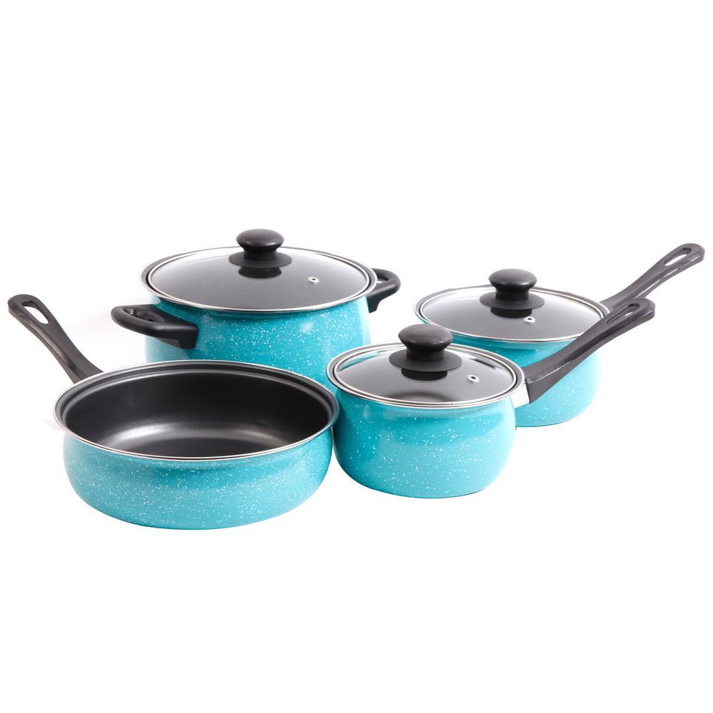 Casselman 7-Piece Turquoise Cookware Set