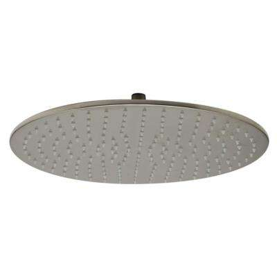 1-Spray 16 in. Fixed Showerhead with LED Lighting in Brushed Nickel