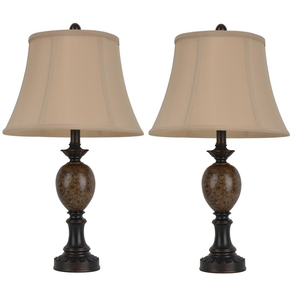 Decor Therapy Mae 25 In Bronze Table Lamp With Softback