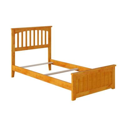 Mission Caramel Twin Traditional Bed with Matching Foot Board