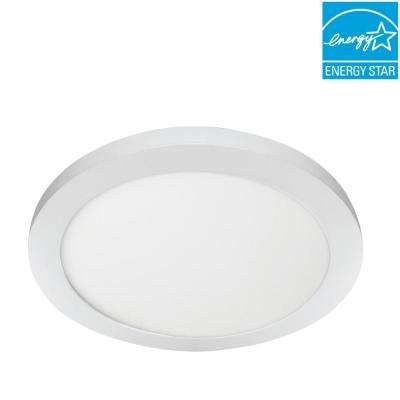 15 in. 22.5-Watt Dimmable White Integrated LED Edge-Lit Round Flat Panel Ceiling Flushmount with Color Changing CCT
