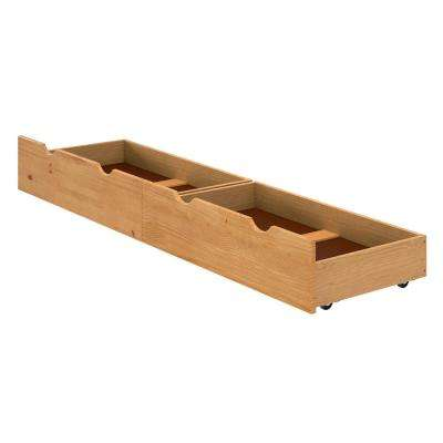 Alaterre 37 in. W x 9 in. H Cinnamon Under Bed Storage Drawers (Set of 2)