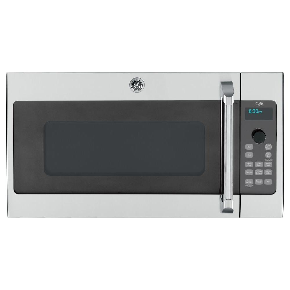 GE Cafe 1.7 cu. ft. Over the Range Speed Cook Convection Microwave in Stainless Steel