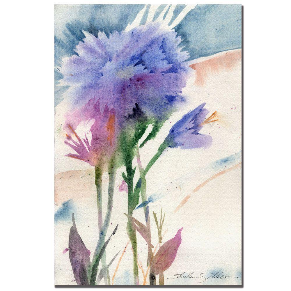 Trademark Fine Art 24 in. x 32 in. Blue Carnation Canvas Art