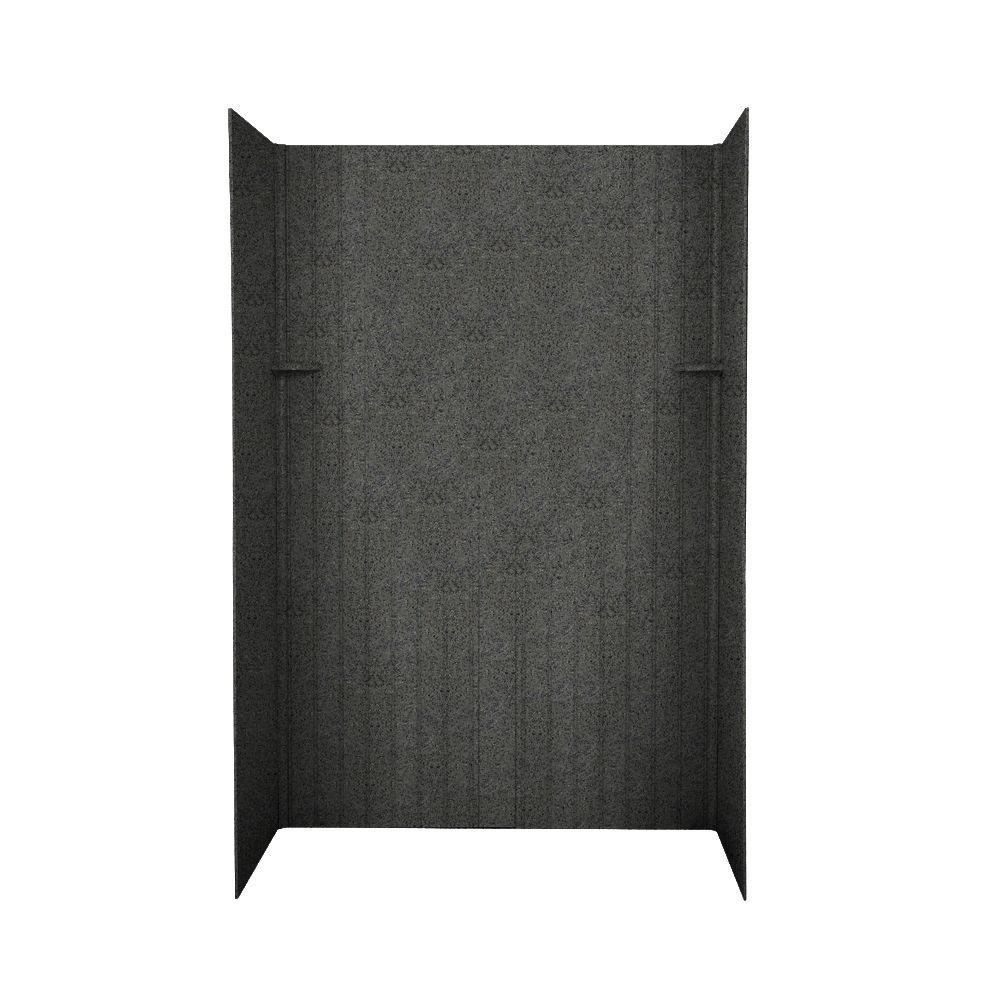 Swanstone Beadboard 34 in. x 60 in. x 72 in. Five Piece Easy Up Adhesive Shower Wall Kit in Indian Grass-DISCONTINUED