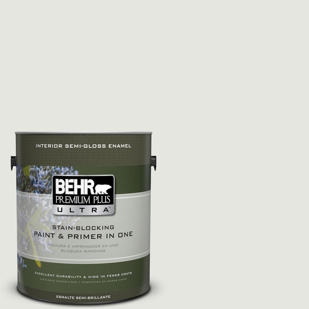 BEHR Premium Plus Ultra 1-gal. #BXC-89 Maritime White Semi-Gloss Enamel Interior Paint