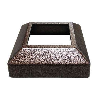 3 in. x 3 in. Copper Vein Aluminum EZ Post Low Profile Base Cover