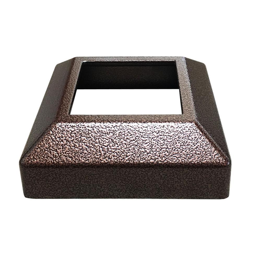 3 in. x 3 in. Copper Vein Aluminum EZ Post Low Profile Base Cover