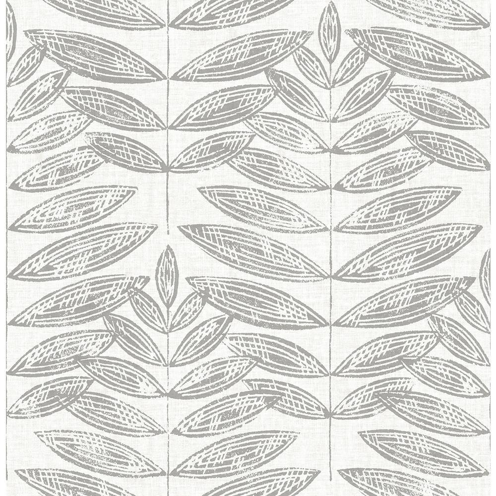 8 in. x 10 in. Akira Dove Leaf Wallpaper Sample