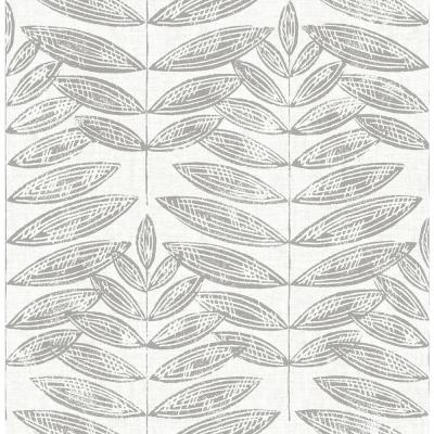 Akira Dove Leaf Paper Strippable Roll (Covers 56.4 sq. ft.)
