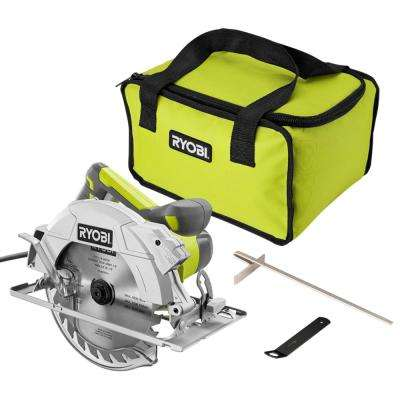 15 Amp Corded 7-1/4 in. Circular Saw with EXACTLINE Laser Alignment, 24-Tooth Carbide Tipped Blade, Edge Guide, and Bag