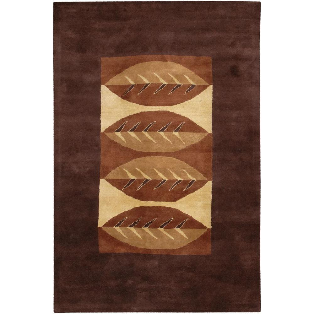 Dream Chocolate Dark Brown/Gold/Brown 5 ft. x 7 ft. 6 in.