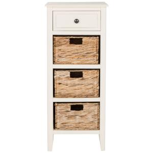 Safavieh Michaela Distressed White Storage Side Table Amh5744b The Home Depot