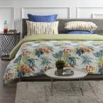 A1 Home Collections Palm Oasis Reversible Print 100% Organic Cotton Wrinkle Resistant Duvet Set and Insert
