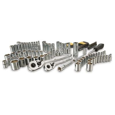 3/8 in. and 1/4 in. Drive Socket Set with Ratchets (123-Piece)