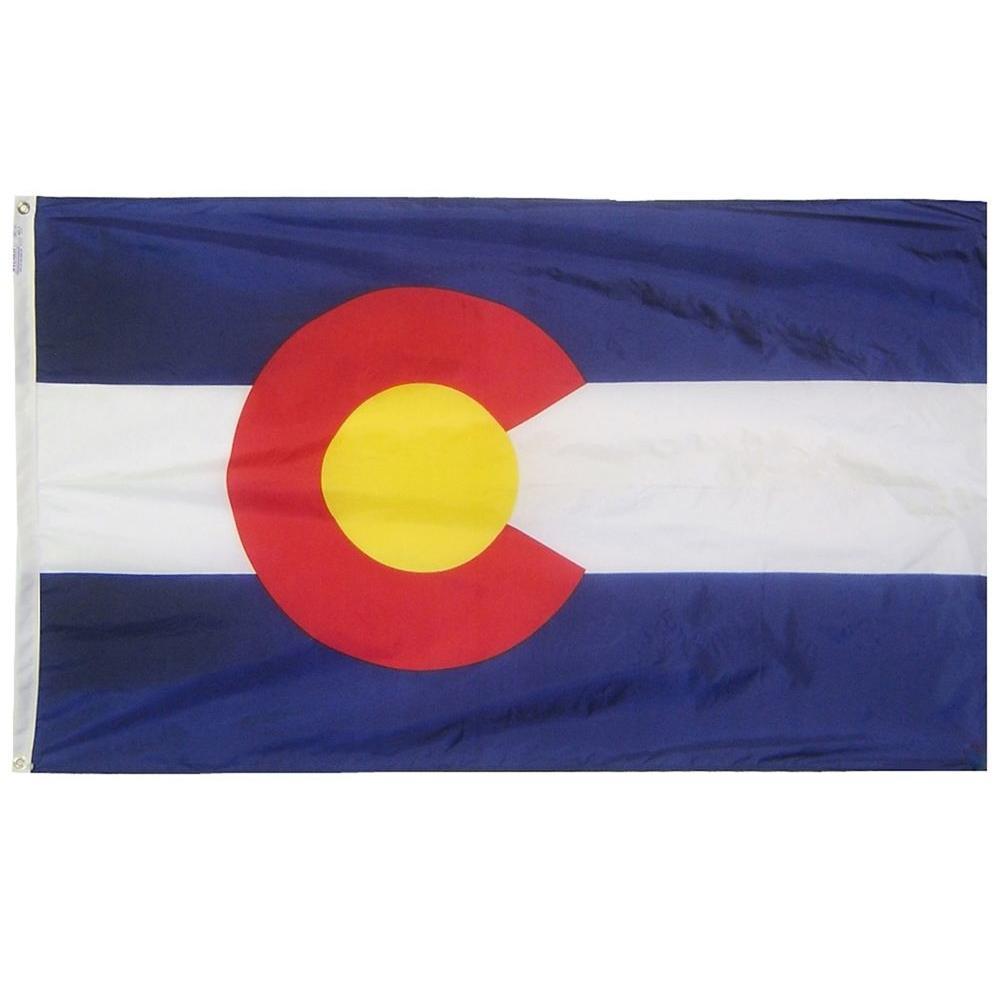 2 ft. x 3 ft. Nylon Colorado State Flag