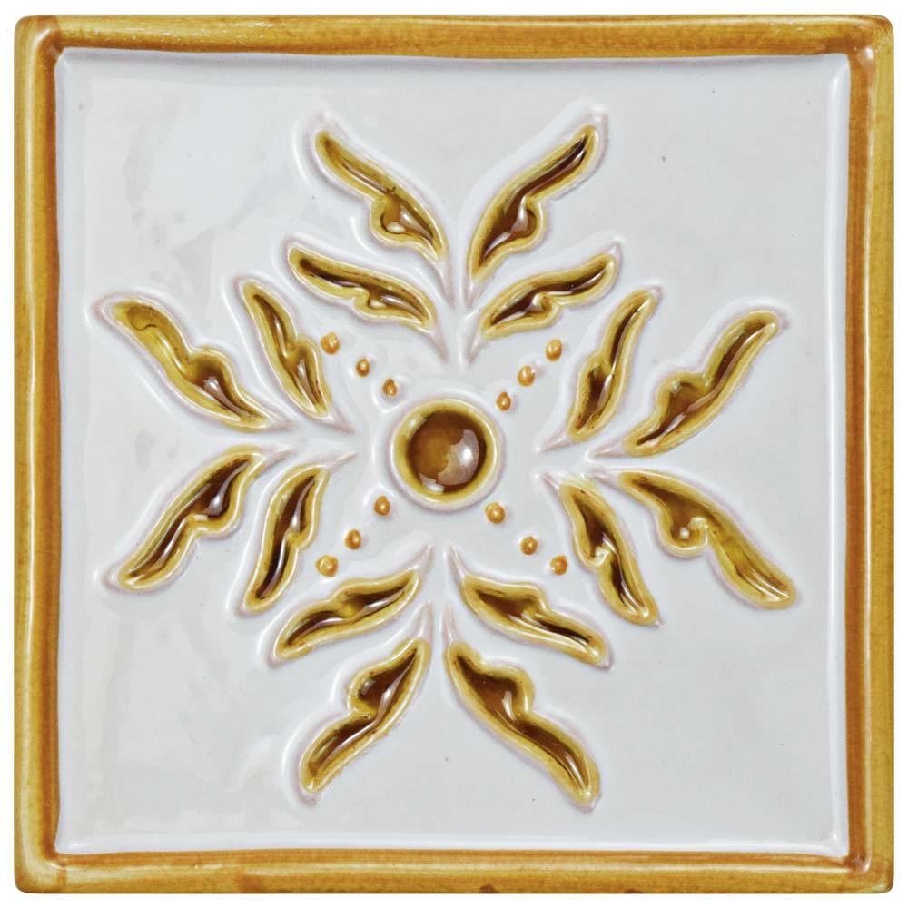 Novecento Taco Evoli Camel 5-1/4 in. x 5-1/4 in. Ceramic Wall