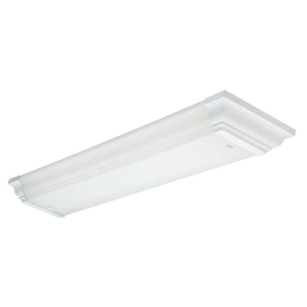 Lithonia Lighting 4-Light Flush-Mount White Fluorescent Light