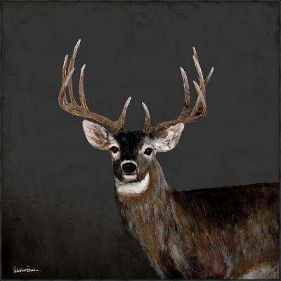 "39 in. x 39 in. ""Country Buck"" ""By Valentino Bustos"" Hand Painted Framed Canvas Wall Art"