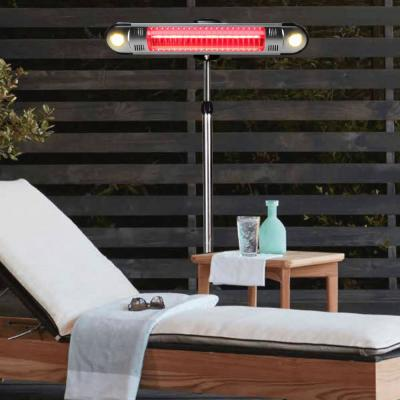 Walle 1,500-Watt 6 ft. Stainless Steel Electric Patio Heater with Remote