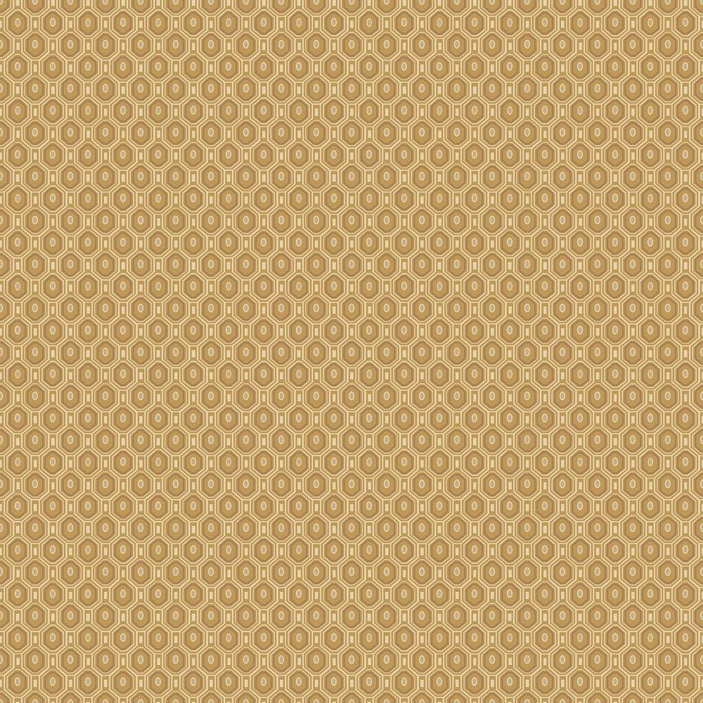 8 in. x 10 in. Ambassador Orange Geometric Wallpaper Sample