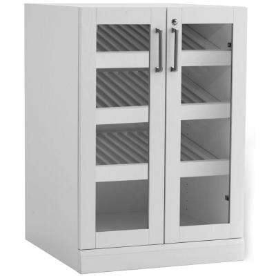 Home Bar White 24 in. Display Cabinet