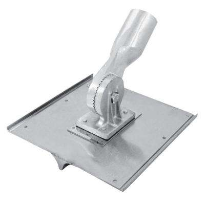 8 in. x 8 in. 3/4 R, 7/8 D Stainless Steel Walking Seamer/Groover with Threaded Handle Socket