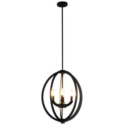 Dura 4-Light Black Chandelier