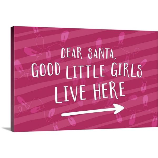 GreatBigCanvas ''Good Little Girls - Red'' by Inner Circle Canvas Wall