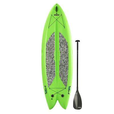 Green Freestyle Paddleboard with Paddle