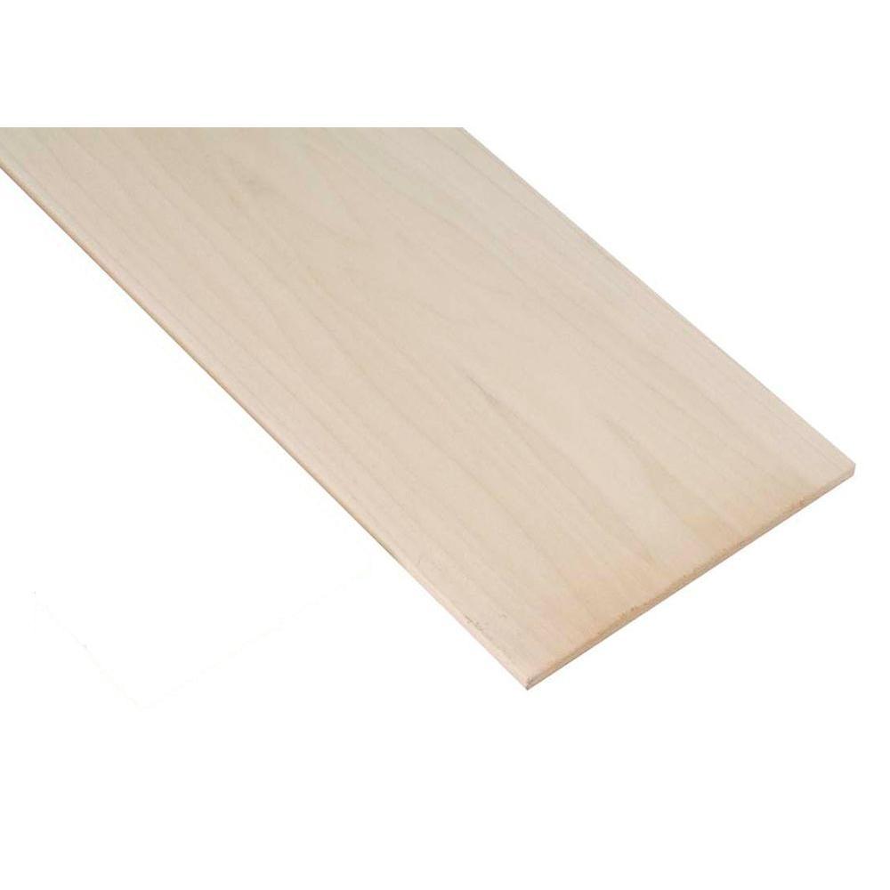 Waddell 1 in. x 12 in. x 3 ft. Red Oak Project Board