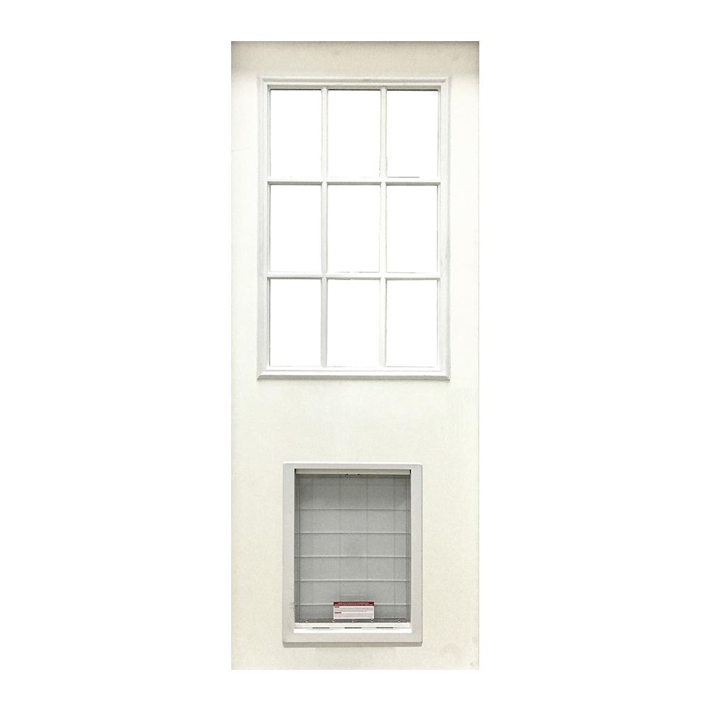 Steves Sons 31 3 4 In X 79 In 9 Lite White Primed Fiberglass Front Door Slab With Super