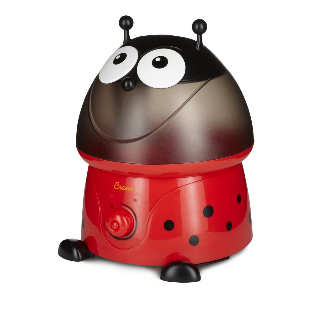 Adorable Ultrasonic Cool Mist Humidifier in Lady Bug with Filter