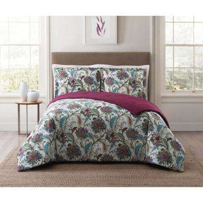Kass Floral Multi Full and Queen Comforter Set