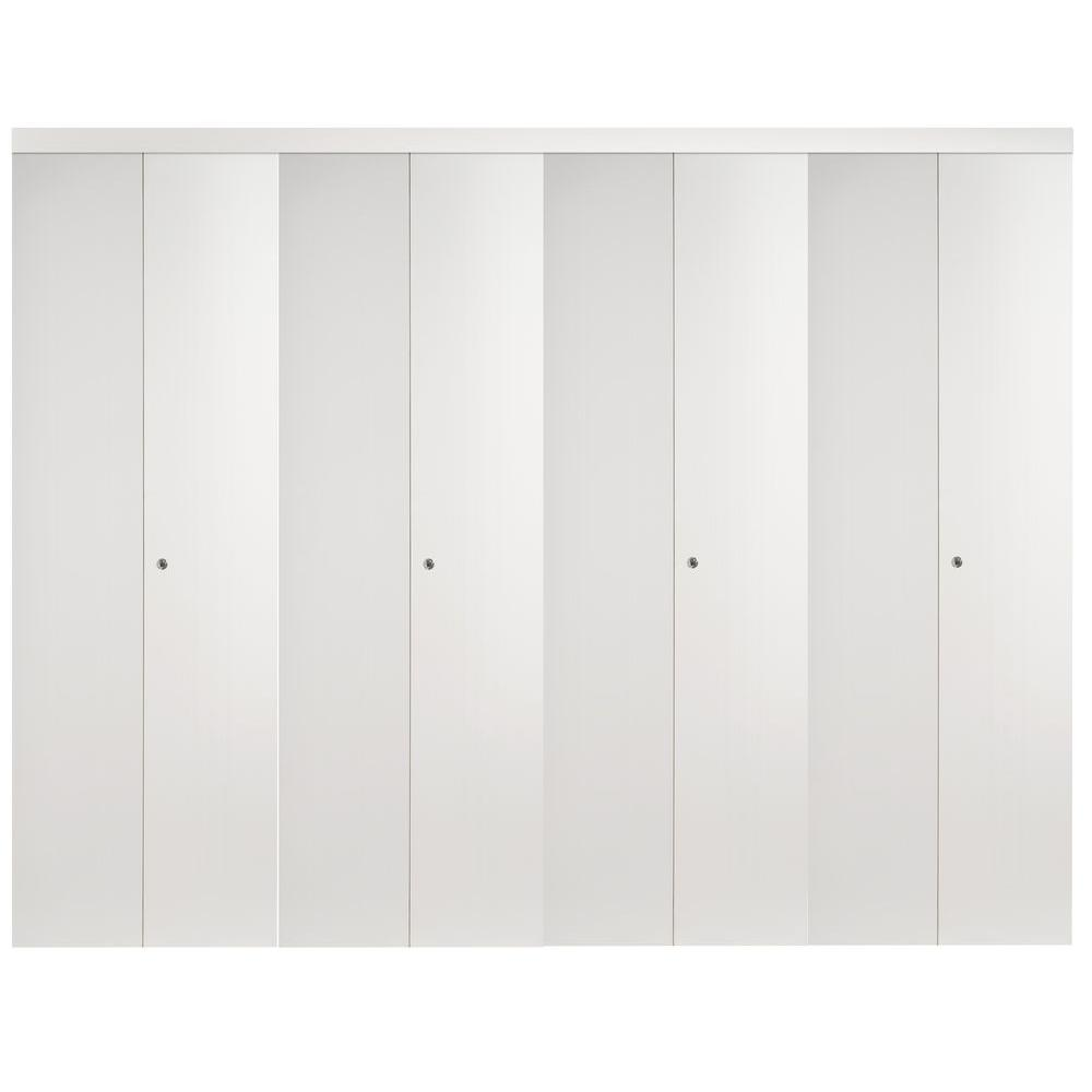 120 in. x 96 in. Mir-Mel White Mirror Solid Core MDF