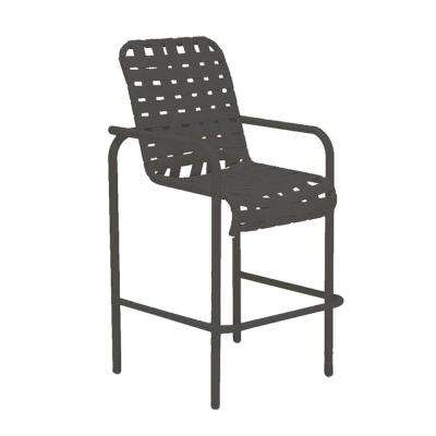 Lido Crossweave Contract Black Patio Bar Stool