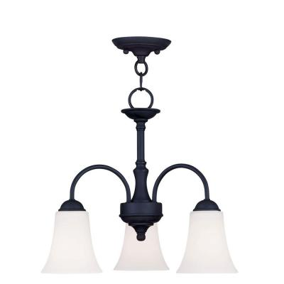Providence 3-Light Black Incandescent Ceiling Pendant