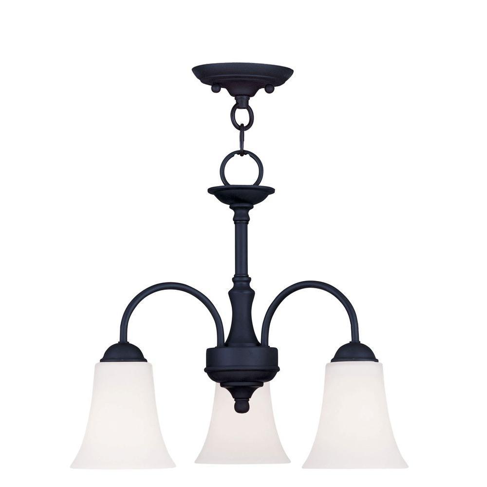 Providence 3-Light Black Incandescent Ceiling Pendant